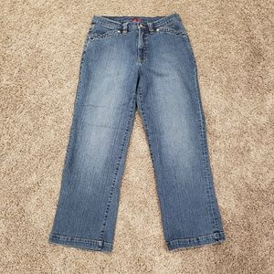 JAG High Rise Cropped Jean Flap Pocket Jeans Sz 10